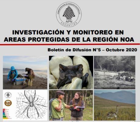 """Quinto Boletín de Difusión """"Investigación y Monitoreo en Áreas Protegidas de la Región NOA"""""""